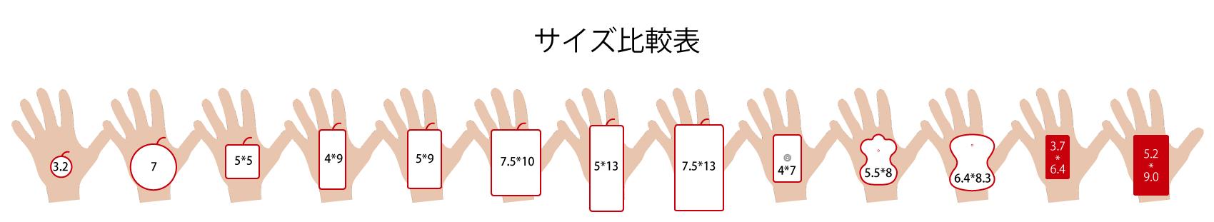 比較サイズ表